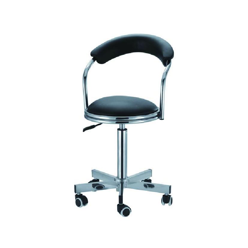 不锈钢医用椅不锈钢靠背皮面圆凳