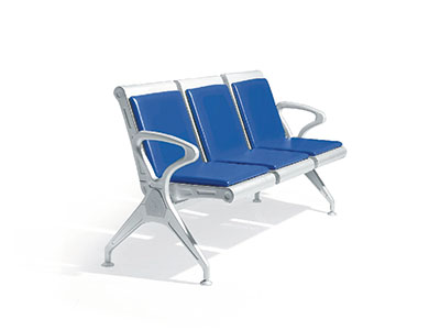 三人位自结皮排椅PY-525